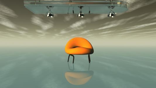 一个倒立的世界里的椅子