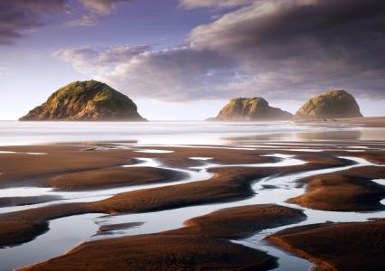 在新西兰的意想不到的风景