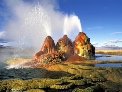 内华达州,在沙漠中的喷泉