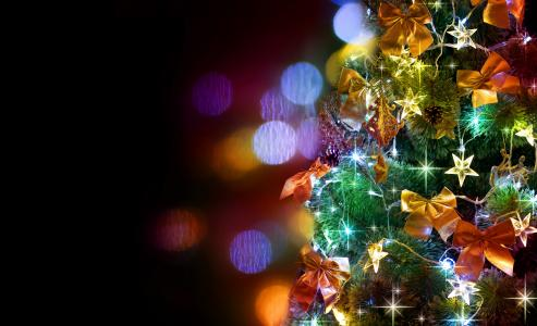 装饰圣诞树圣诞节