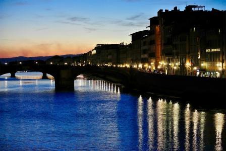意大利佛罗伦萨阿诺河风景