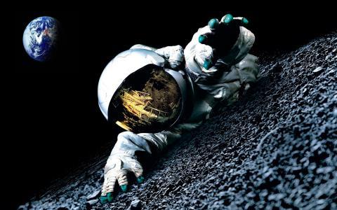 行星地球,宇航员,航天服,行星