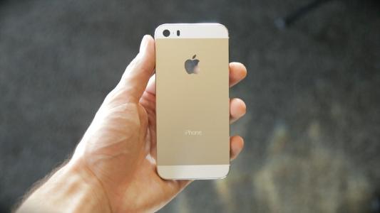 Iphone 5S香槟色手中