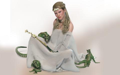 女孩和绿色的恶魔