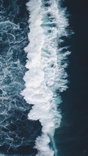 海边浪花优美风光