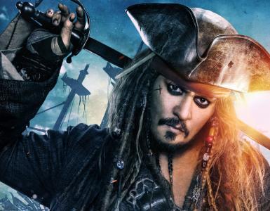 """海盗杰克·斯派洛,电影""""加勒比海盗""""。"""