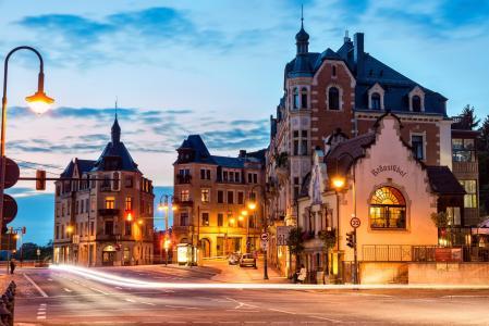 街,灯笼,德累斯顿