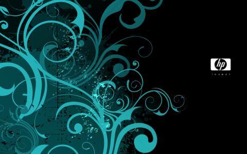 蓝色装饰HP