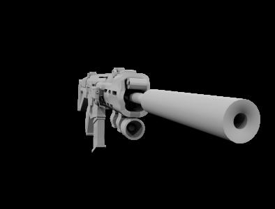 狙击步枪,3D模型