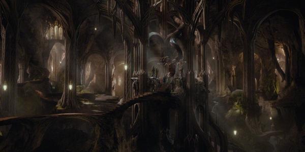 在电影霍比特人五军之战中的宫殿