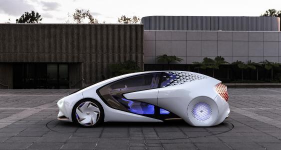 无人驾驶的丰田Concept-i