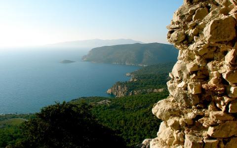 美丽的景色,从悬崖