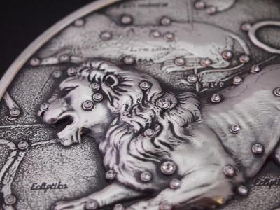 硬币上的狮子