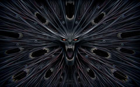 对称的梦幻般的怪物
