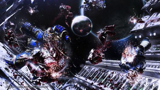 """太空中的战士,游戏""""战锤4万"""""""