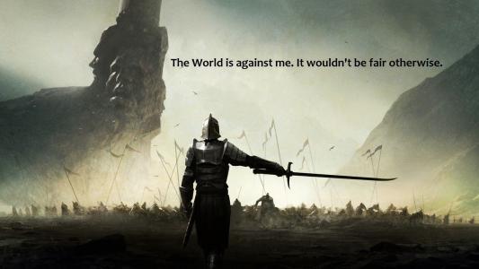 全世界都在反对我,否则就是不诚实的