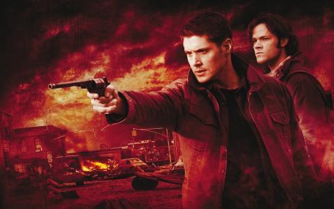Dean正在瞄准Supernatural系列中的一把枪