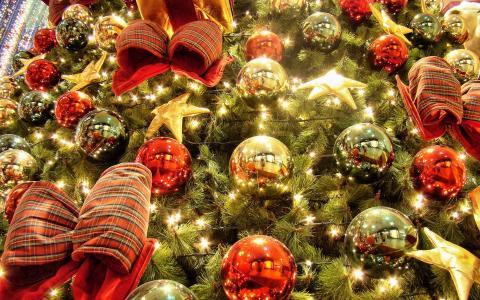 装饰的圣诞树