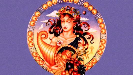 黄道十二宫处女座绘图的标志
