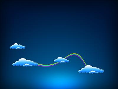 蓝蓝的天空中的云彩