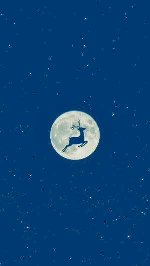 月圆创意手绘