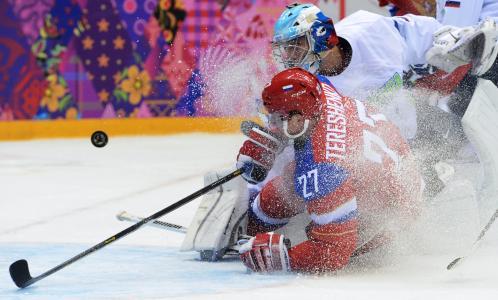奥运在索契曲棍球俄罗斯