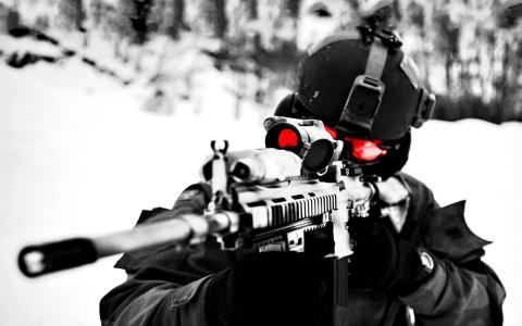 特种部队的狙击手