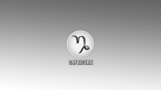 摩羯座的标志在灰色背景的