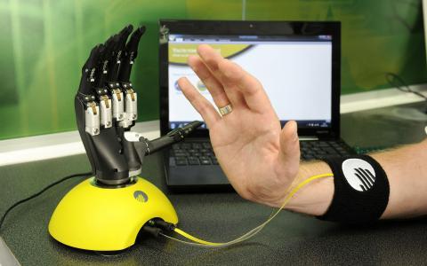 手,笔记本电脑,高科技,现代