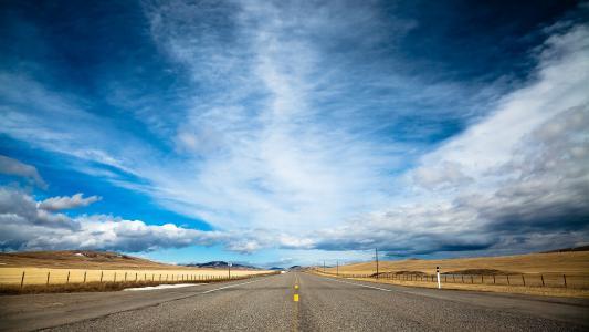 道路和天空
