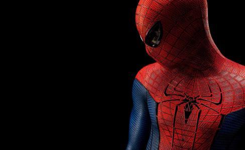 黑色背景,蜘蛛侠