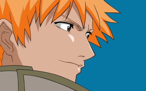 动漫人物与橙色的头发