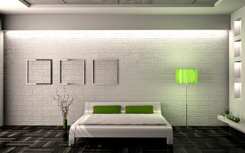 新艺术运动风格的卧室