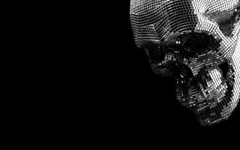 镜子晶体的头骨