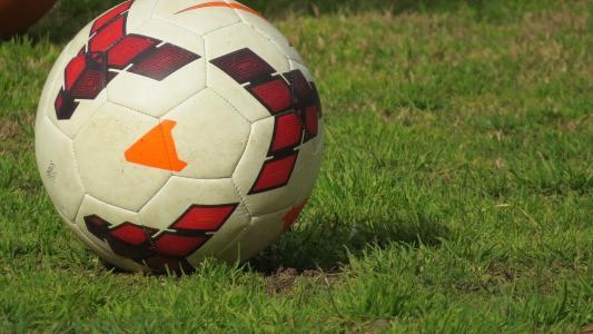 足球在草坪上