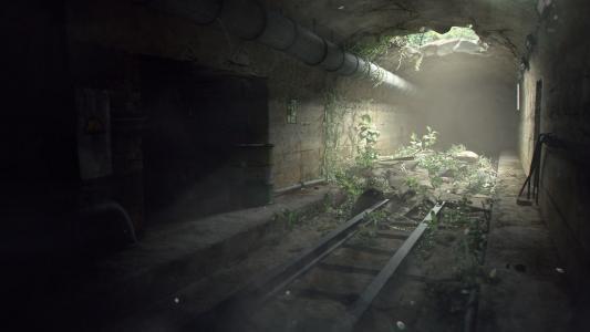 毁了的地铁隧道