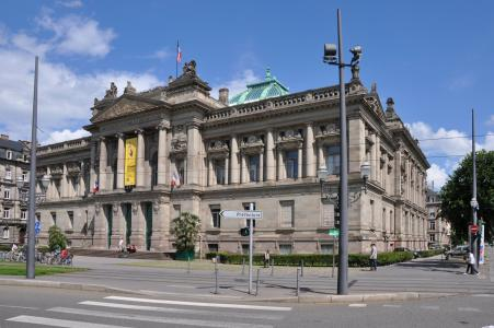 图书馆在法国史特拉斯堡