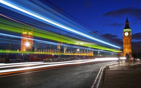 伦敦的夜灯