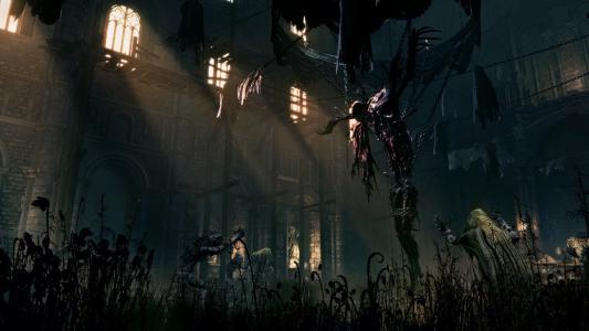 在Bloodborne游戏中的建筑物内