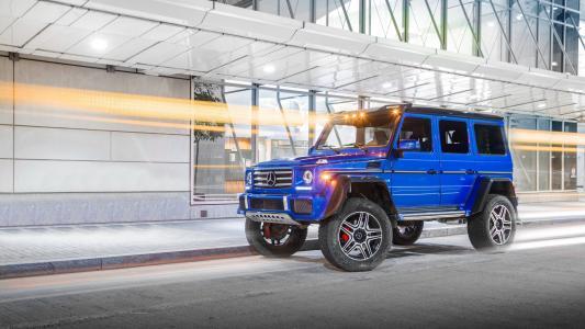2017年蓝色SUV奔驰G级G 500 4x4