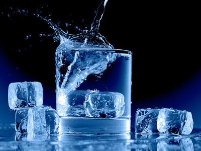 飞溅,水,宏,冰,玻璃,冰冷