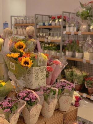 花店里美丽的鲜花
