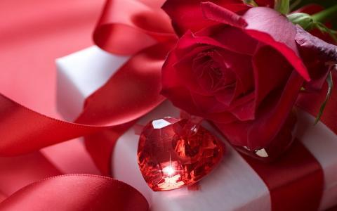 玫瑰水晶情人节