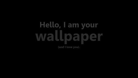 嗨,我是你的壁纸,我爱你