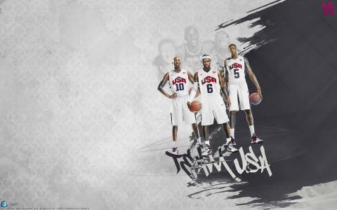 美国的篮球运动员