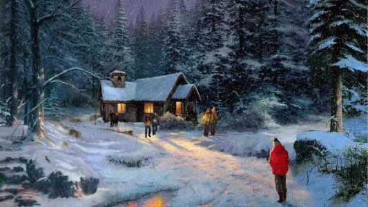 绘Kincaid圣诞节