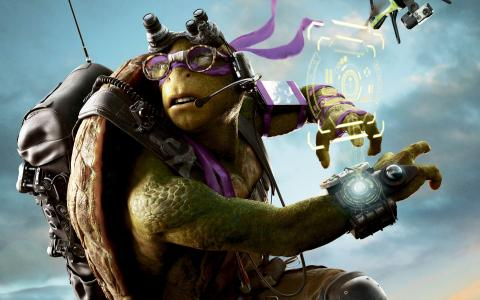 海龟多纳泰罗角色的电影2忍者龟2