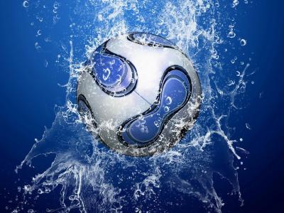 球在水的喷雾