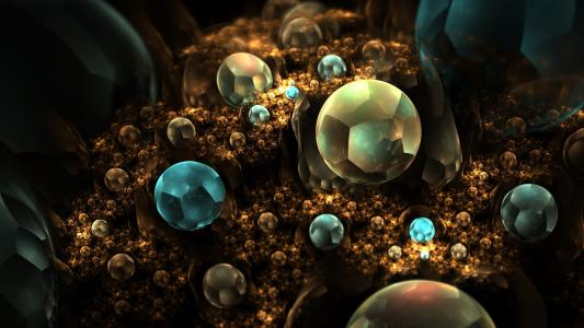 抽象的宝石3d图形