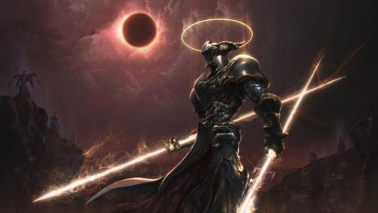 在日食期间黑社会的骑士